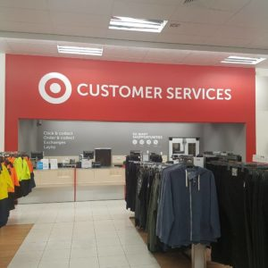 Target Change Rooms and Lay Bye Areas